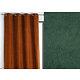 Rideau WALL STREET polyester CoL85 vert 145x260 prêt à poser oeillets ronds