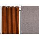 Rideau WALL STREET polyester CoL90 gris 145x260 prêt à poser oeillets ronds