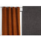 Rideau WALL STREET polyester CoL92 gris anthracite 145x260 prêt à poser oeillets ronds