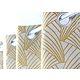 Rideau ARDECO Col.35 jaune polyester 135x250 prêt à poser oeillets ronds