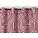 Rideau CHILI Col.69 rouge polyester 135x250 prêt à poser oeillets ronds