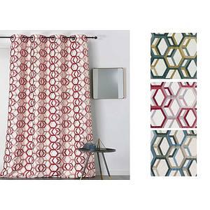 Rideau ALANIS polyester 135x250 prêt à poser oeillets ronds