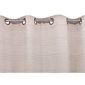 Rideau GLARIS naturel coton 140x260 prêt à poser oeillets ronds