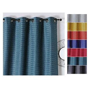 Rideau SALSA polyester 135x240 prêt à poser à oeillets ronds