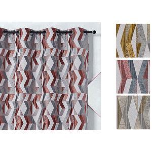 Rideau CHLOE polyester 135x240 prêt à poser à oeillets ronds