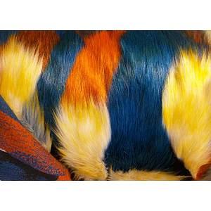 Tissu fausse fourrure multicolore