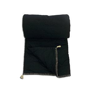 Edredon SORGUES noir 90x190 cm multiusage