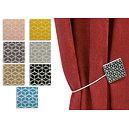 Embrasse magnétique carrée bois laqué motif mosaïque