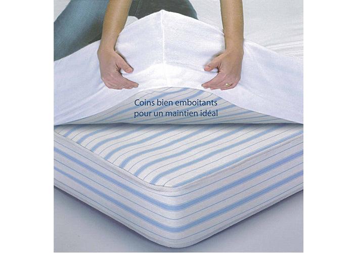 al se prot ge matelas imperm able forme housse bonnet 40 cm pour lit deux personnes. Black Bedroom Furniture Sets. Home Design Ideas