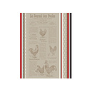 Torchon jacquard multicolore JOURNAL DES POULES