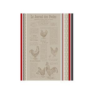 Torchon jacquard multicolore JOURNAL DES POULES