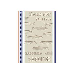 Torchon jacquard multicolore SARDINES