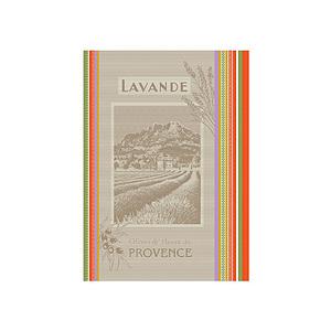 Torchon jacquard multicolore LAVANDE DE PROVENCE