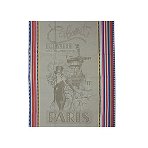 Torchon jacquard multicolore CABARET PARIS