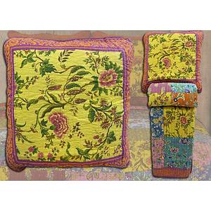 Boutis patchwork multicolore + 2 taies