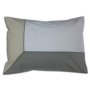 Taie d'oreiller 50x70 100% percale de coton 80 fils trio beige