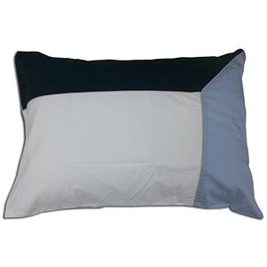 Taie d'oreiller 50x70 100% percale de coton 80 fils trio bleu