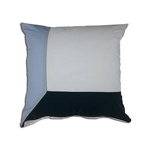 Taie d'oreiller 65x65 100% percale de coton 80 fils trio bleu