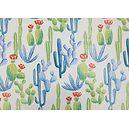 Toile cirée PVC 140 cm motif cactus