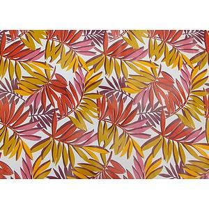 Toile cirée PVC 140 cm jungle rouge
