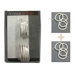 Lot 8 anneaux pour rideaux à galon fronceur
