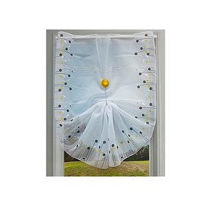 Petit rideau blanc étamines multicolores