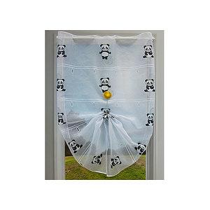 Petit rideau blanc motif panda
