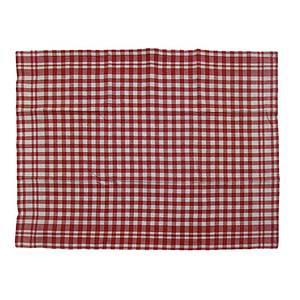 Torchon 100% coton vichy rouge et écru