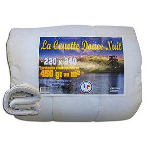 Couette blanche 1er prix 450 g/m2 220x240 cm