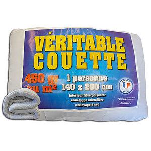 Couette blanche 1er prix 450 g/m2 140x200 cm
