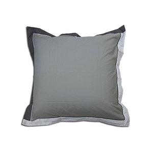 Taie d'oreiller 65x65 cm 100% percale de coton moderne grise