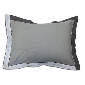 Taie d'oreiller 50x70 100% percale de coton moderne grise