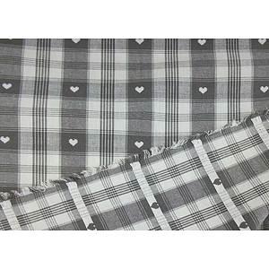 Tissu coton thème montagne gris et blanc grande largeur
