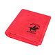 Drap de bain rouge Royal Club geographical Norway 100x150 cm 550 g/m2