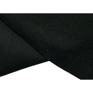 Tissu uni 100% coton noir 270 cm de large