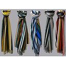 Echarpe à rayures verticales multicolores