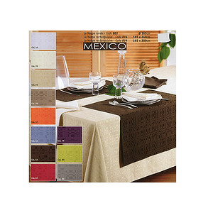 Nappe de table rectangulaire 165x240 cm Modèle MEXICO