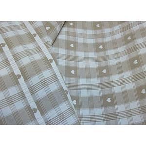 Tissu coton thème montagne lin et blanc 160 cm de large