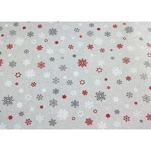 Tissu flocon de neige