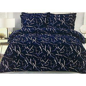 Parure housse de couette bleu marine motif abstrait