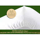 Protège matelas housse imperméable coton 220 g/m2 anti acariens