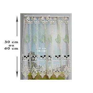 Audacieux Petit rideau cantonnière macramé motif vache vendu en bandes de 10 DK-53