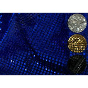Tissu paillettes rondes sur base jersey souple