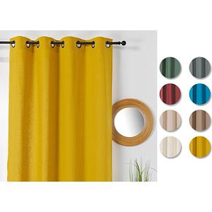 Rideau coton et chanvre 135x240 cm