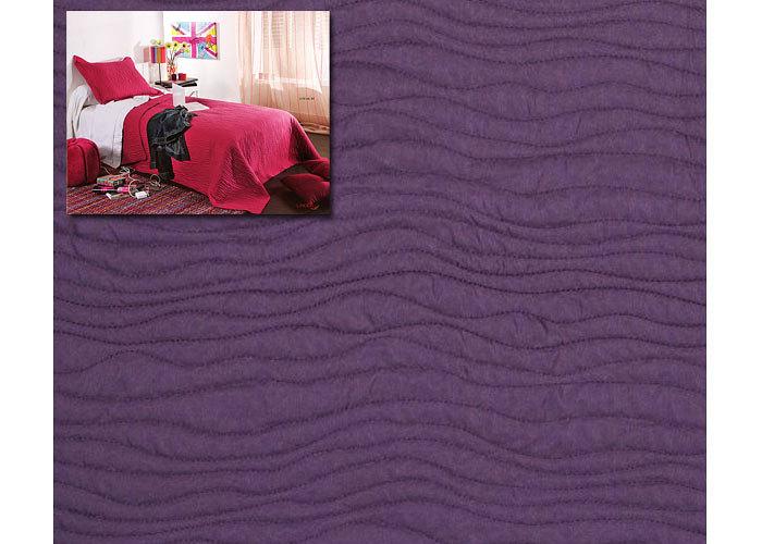Couvre lit boutis uni moderne mikado 180x240 cm pour lit une place de 90 ou 1 - Couvre lit aubergine ...