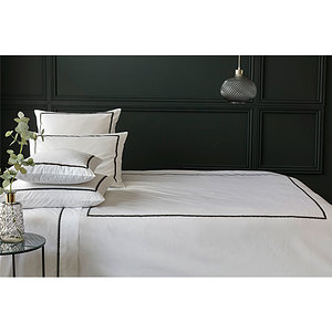 Housse de couette percale Tracy blanche