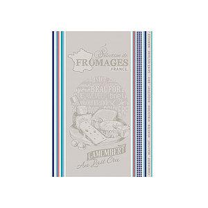 Torchon jacquard multicolore SELECTION DE FROMAGES