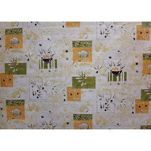 Toile cirée PVC 140 cm thème provençal motif olives