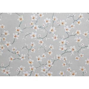 Tissu 100% coton fleurs d'amandier sur fond perle 150 cm de large