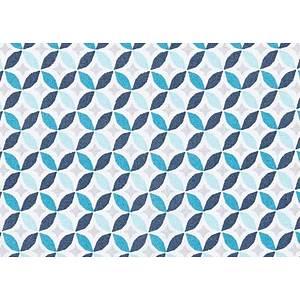 Tissu 100% coton imprimé géométrique cercles 150 cm de large
